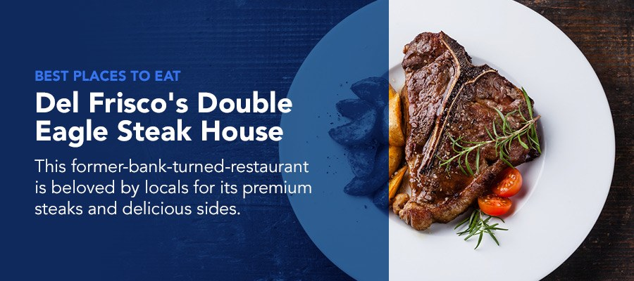 Del Friscos steak house is a top place to eat in Philly