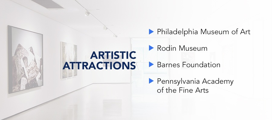 Artistic attractions in Philadelphia