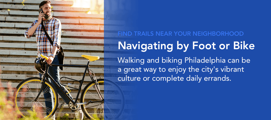 navigating Philadelphia by foot or bike